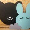tablica miś i króliczek